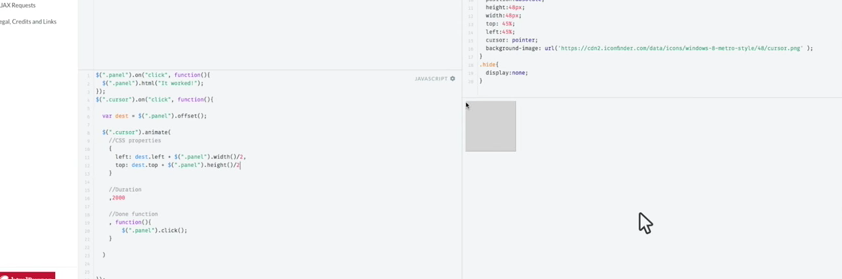Animating a Cursor withjQuery